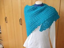Ladies scarf shawl Handmade Turquoise Wrap Mothers day Gift