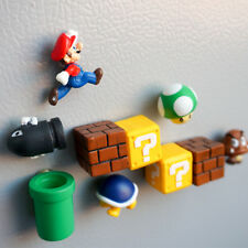 Lot of 10 PC Super Mario Funny Game 3D Fridge Magnet PVC Note Posted Sticker