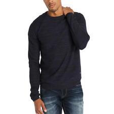 Buffalo David Bitton мужские синие отмеченные свитер с длинным рукавом L bhfo 0073