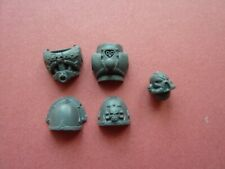 Chaos Marines BIKER TORSO / PADS / HEAD SET - Bits - Bike 40K