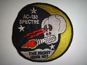 Vietnam War US Air Force AC-130 SPECTRE Gunship THE NIGHT HIDES NOT Patch