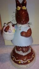 """Lenox Porcelain """"Belle The Chocolate Easter bunny"""" Mint In Box 5.25 inches tall"""