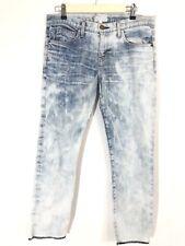 Current Elliott Jeans Size 27 The Cropped Roller Easy Rider Raw Hem Acid Wash