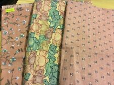 "3 pcs cotton fabric from America. 19.5x23"",19x22"",18x22"". Pack 6."