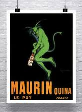 MAURIN QUINA 1906 Vintage Absinthe Poster Rolled Canvas Giclee Print 24X32 in.