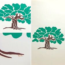 "Oak Tree Silk Screen Print : Original : Limited : Signed - ""Gret"" : 14"" X 17"""
