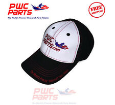 PWC Parts Co. Hat Black White Red Stitching Low-Profile Cotton SeaDoo Yamaha Cap