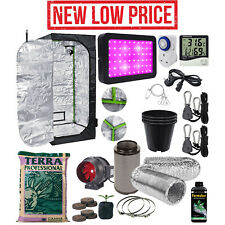 1000W Complete Grow Tent Kit Set Up Pro LED Indoor Growing Light Size Hydroponic