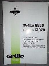 GRILLO motoculteur G85D - G107D : catalogue pièces 2004