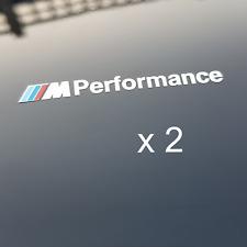 BMW M Performance métal réfléchissant alliage de nickel Autocollant Decal M2 M3 M4 M5 M6