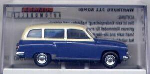 DDR-PKW Wartburg 311 Camping, blau / elfenbein für H0 (A-1291)