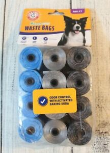 Arm & Hammer Fresh Scent Doggy Waste Bags 180ct - 12 Rolls Pet Supplies