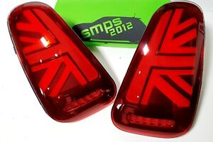 Mini Gen 1 RED LED Union Jack Rear tail Lights R50, R53 2001-04 Pre-LCI