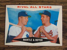 1960 TOPPS BASEBALL MICKEY MANTLE/KEN BOYER CARD # 160 EX+ CONDITION