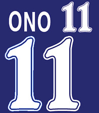 Japan Ono Nameset 1998 Shirt Soccer Number Letter Heat Print Football Home