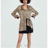 ZARA | Womens Leopard Print Blouse Top [ Size S or AU 10 / US 6 ]
