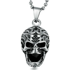 Men's Stainless Steel Fashion Pendants Jewelry Skeleton Skull Chains Necklaces