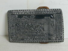 1970's Pewter 2 Cents LexConcord-Lexington US Postage Stamp Belt Buckle By Coyne