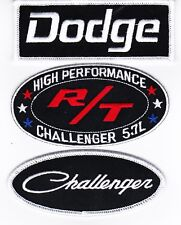 DODGE CHALLENGER 5.7L R/T SEW/IRON ON PATCH BADGE HEMI CHARGER MOPAR