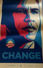 Shepard Fairey Barack Obama Change Poster - Numbered Print