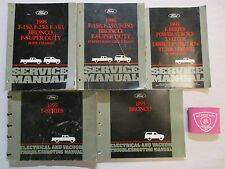 1995 FORD F-150 F-250 F-350 SUPER DUTY BRONCO SERVICE MANUALS WIRING DIESEL SET