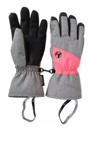 Women's Extreme Waterproof Winter/Ski Gloves. Pink/Grey Mix, Size M