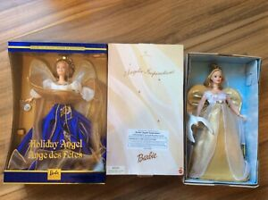 LOT OF TWO BARBIES - COLLECTOR EDITION HOLIDAY ANGEL & BARBIE ANGELIC INSPIRATIO