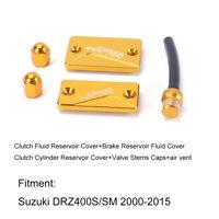 Suzuki Clutch Fluid Reservoir Cover Brake Cylinder Valve Stems DRZ400S/SM 00-15