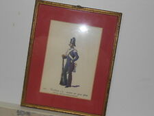 Vtg. Italian Military Museum Carabiniere p.1834 Montura Pei Giorni Framed Print