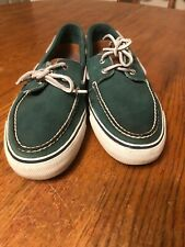 SPERRY TOP SIDER Men's Loafer Boat Shoes Size 12 Leather Brown Green FREE SHIP