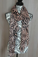 Maxi foulard 190 x80 scarf chale echarpes femme cheche étole rayé rose noire