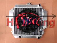 Alloy Radiator for SUZUKI SIERRA 1.0 1.3 SJ410/413 1981-1996 MT Fan RED hoses
