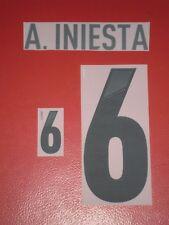 FLOCAGE OFFICIEL INIESTA ESPAGNE AWAY 2012-2014