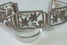 STYLISH SWEDISH ART DECO SILVER MARCASITE BRACELET