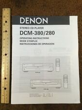 Denon DCM-380 / 280 CD Player Original Owners Manual 20 English Pages