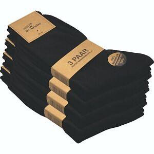 12 Paar Herren Business Socken 100% Baumwolle ohne Naht ohne Gummi handgekettelt