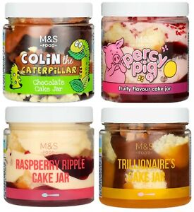 Cake In a Jar - Colin the Caterpillar / Percy Pig M&S Marks & Spencer Kids Cake