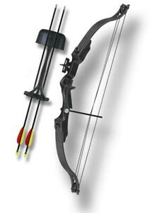 MK CB006-BK  1.75LB ARCHERY BOW AND ARROWS CABLE WIRE STRING QUIVER 85 FPS
