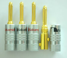 50 pcs Nakamichi Speaker banana plugs audio connector 24K Gold N0534D USA Design
