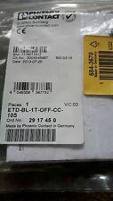 Phoenix CONTACT Relè ETD-BL-1T-OFF-CC-10S RS684-3670 NUOVO garanzia di 90 giorni