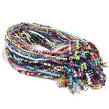 6mm 108 Natural Gemstone Beads Buddhist Prayer Mala Stretchy Bracelet Necklace