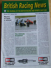 BRITISH RACING NEWS MAGAZINE #191 JAN 1997 WYNN OIL SPONSOR YOUR BRSCC BOOK REVI