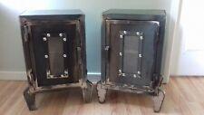 Industrial Modern Steel Bedside Cabinets, Rustic (Media Storage) Handmade Units