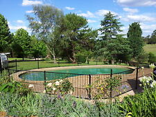 Aluminium Black Flat Top Pool Fence /Fencing, Garden fencing, Batten fencing