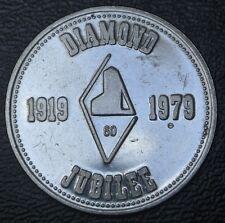 1919-1979 SOUVENIR OF KIRKLAND LAKE, Ontario DIAMOND JUBILLE TOKEN
