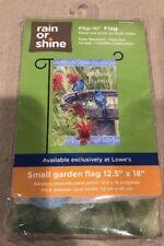 New listing Rain or Shine Flip It! Birds Welcome Friends Small Garden Flag