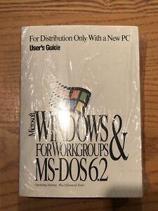 New Sealed Vintage Microsoft Windows MS-DOS 6.2