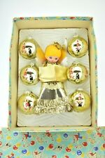 More details for awesome vintage 1970s boxed christmas topper angel and matching baubles