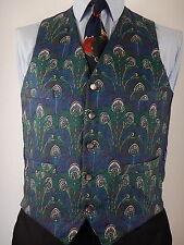 Liberty Mens Unusual Print 4 Pocket Waistcoat Vest Size UK 38 Medium