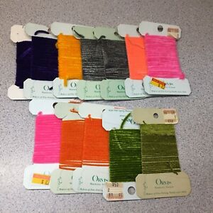 Large Fly Tying Lot Of ORVIS Brand Chenille Lot Of 12 Pcs.  Lot #5